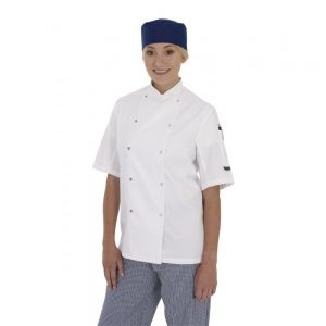 BIG CHEFS! Denny's Chef Jacket with Press Stud Fastening – Long or Short Sleeves – Unisex – Black or White – Sizes XXS-3XL