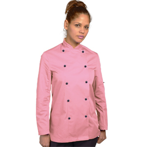 PINK CHEFS! Dennys Long Sleeved Chef Jacket in Orchid Pink – Size XS-2XL
