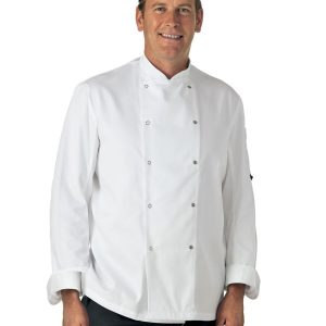 Dennys Easy-Care Long Sleeve Chef Jacket