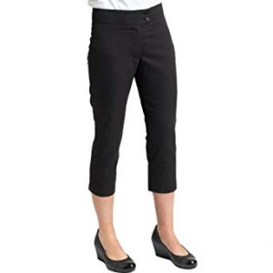 Dennys Cropped Beauty Trousers – Black – Sizes 6-20