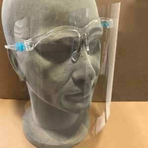 Face Visor With Glasses