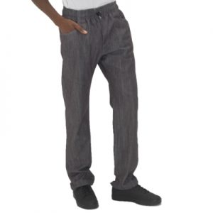 Le Chef Prep Slim Leg Trousers – Faded Black Denim Sizes XS-2XL