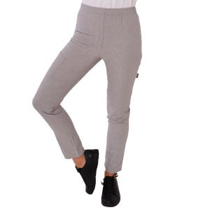 Le Chef Ladies Stretch Chef Trousers – Grey – Sizes 6-18